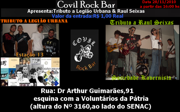 Festa Raulseixisticka no Covil Rock Bar