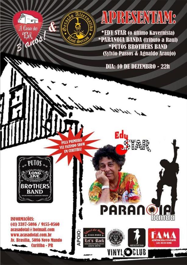 Muito Raul Seixas, Blues e Rock and Roll na Casa do Tal em Curitiba.