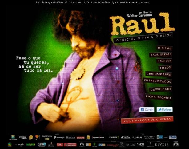 """Site oficial """"Raul, O Início, o Fim e o Meio"""""""