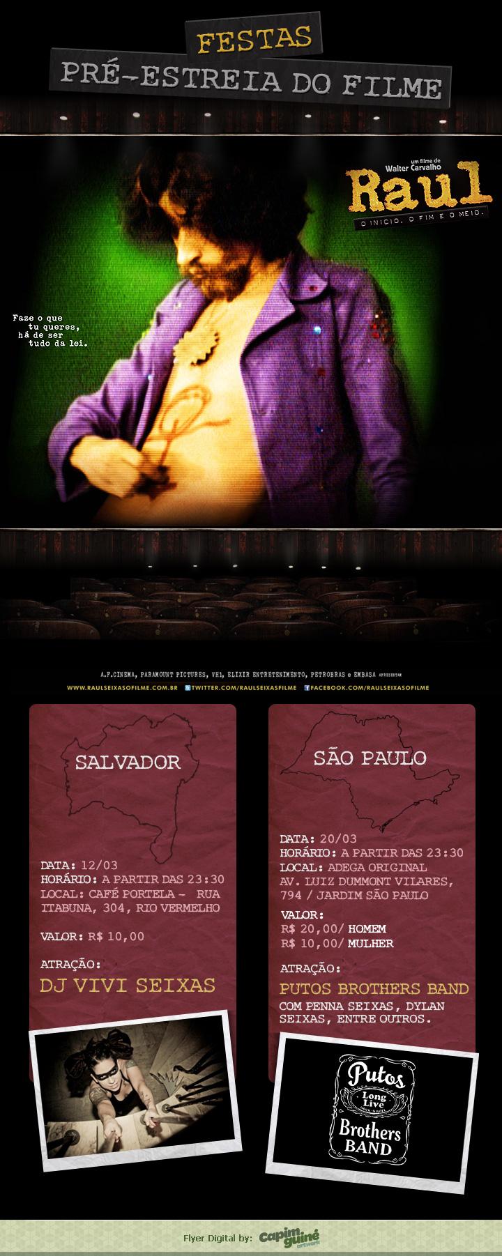 Festas de pré-estreia abertas ao público em São Paulo e Salvador