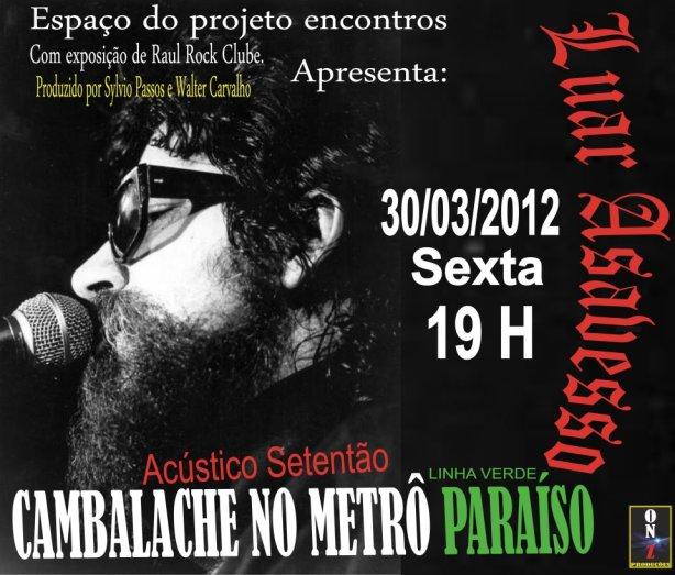 O grupo Luar Asavesso terá como convidado especial Ivan Seixas, da dupla Cabeças Enfumaçadas