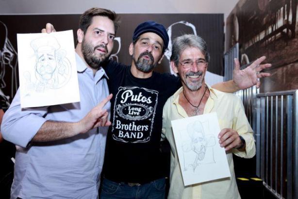 Denis Feijão, Sylvio Passos e Toninho Buda no 3º Salão do Livro de Guarulhos.