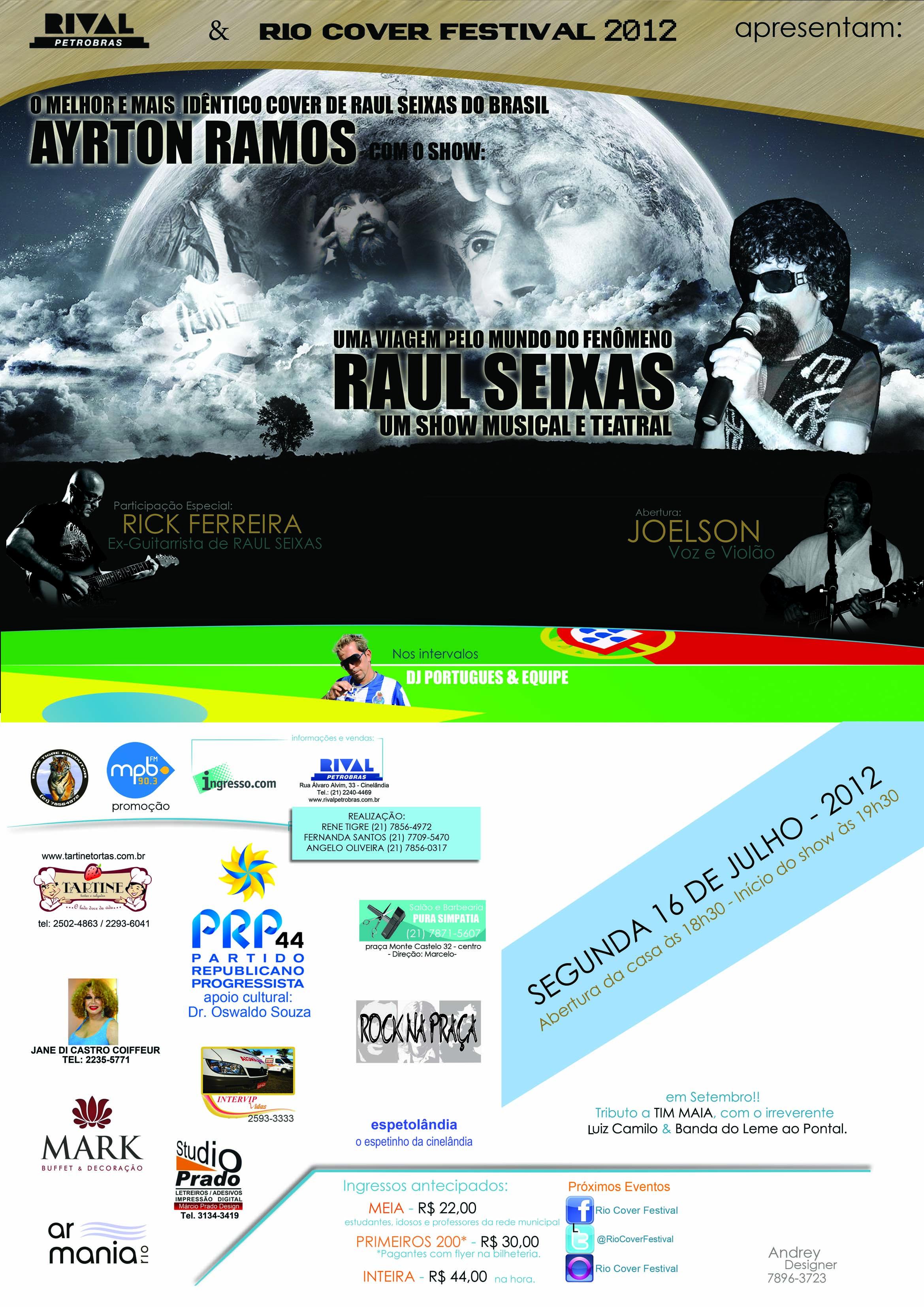 Rick Ferreira fará participação especial em show de Ayrton Ramos em homenagem a Raul Seixas
